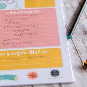 Projektliste für dein Nähprojekt, Geschenk für Näherinnen